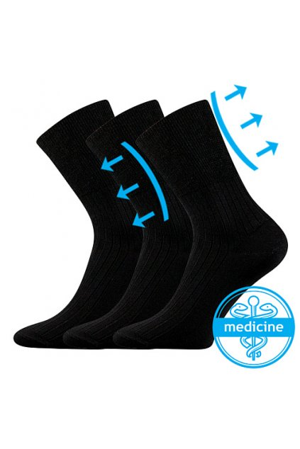ponožky Zdrav. ponožky - černá