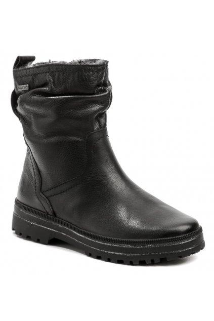 Jana 8-26499-27 černé dámské zimní boty šíře H