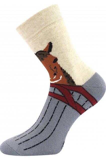 ponožky Sibiř dětská 07 - mix B - koník