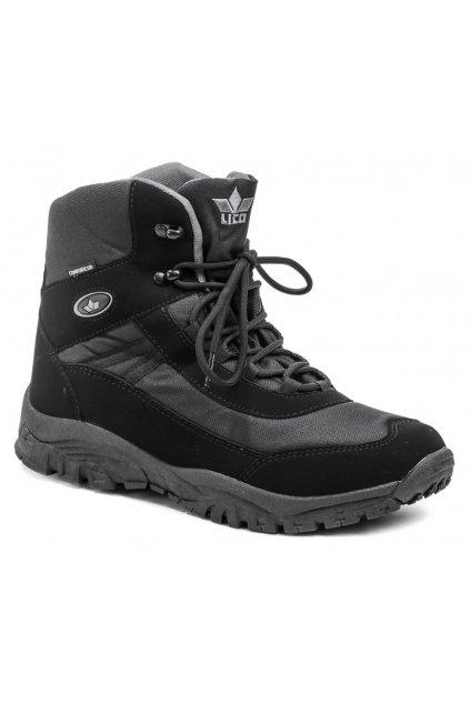 Lico 710187 Kenai černé pánské zimní boty