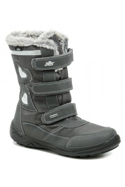 Lico 720407 Ingra V šedé dámské zimní boty