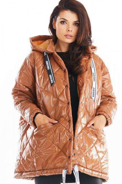 Oversize prošívaná bunda MAW149757 karamel