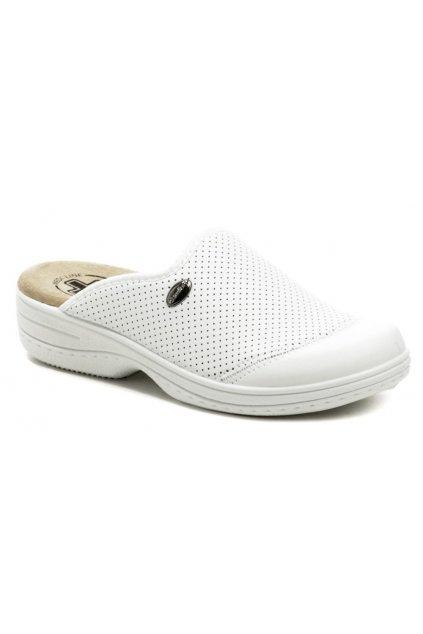 Medi Line 553 bílé dámské zdravotní pantofle