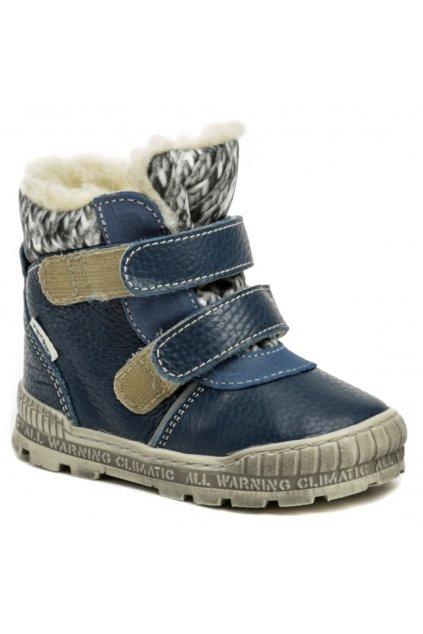 Pegres 1702 modrá dětská zimní obuv