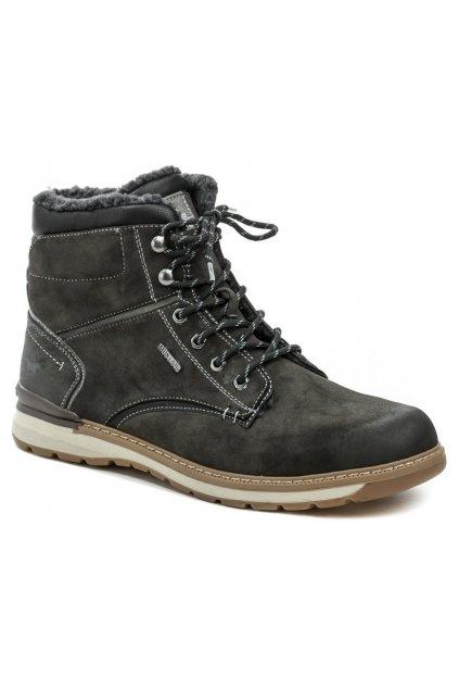 Mustang 4141-604-20 tmavě šedé pánské nadměrné zimní boty