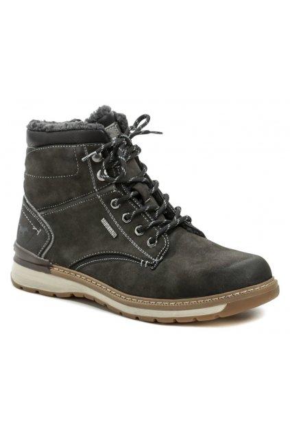 Mustang 4141-604-20 tmavě šedé pánské zimní boty