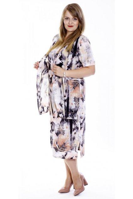 NORA šaty s vestou - 3 délky