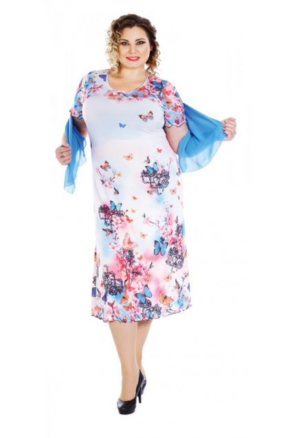 Letní šaty + šálka 105 - 110 cm