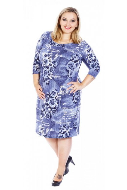 VALA - šaty 3/4 rukáv 110 - 115 cm