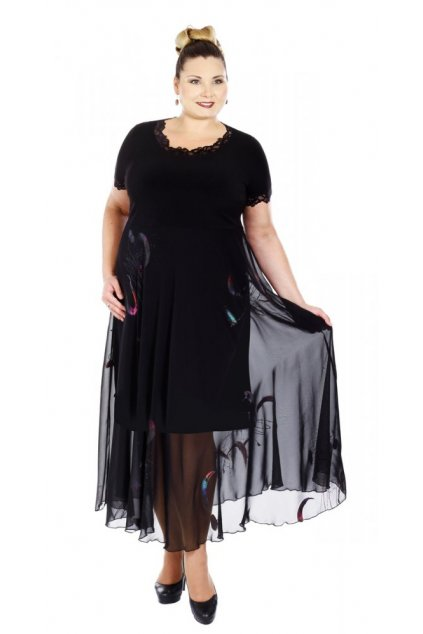 HEDVIKA - šaty 120 - 125 cm, kr. rukáv