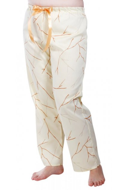 Dámské saténové kalhoty na spaní