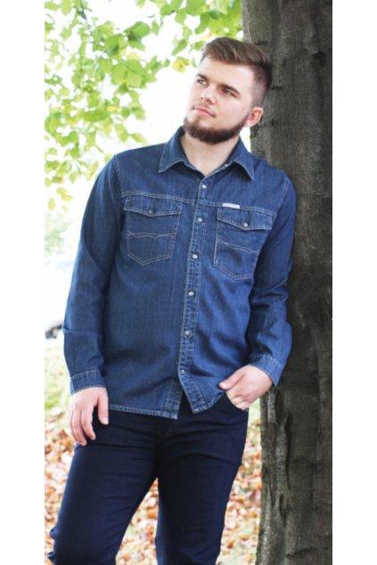 KURT - riflová košile dlouhý rukáv 153