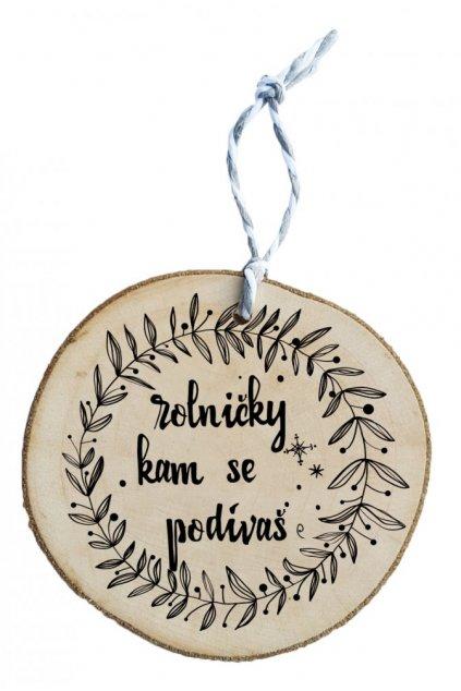Dřevěná vánoční ozdoba - rolničky