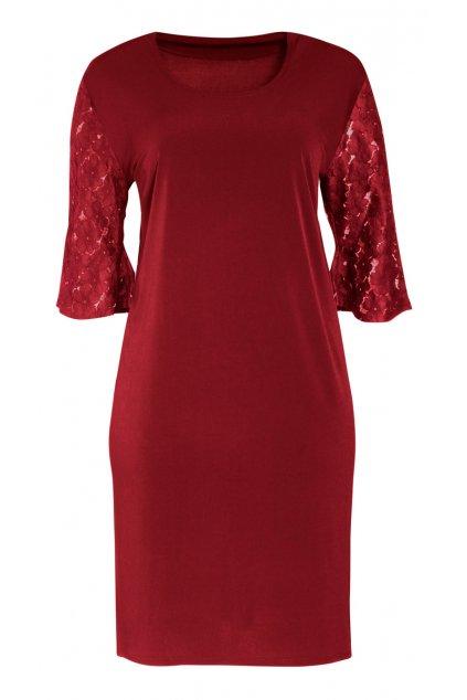 dámské šaty rovné červené 1