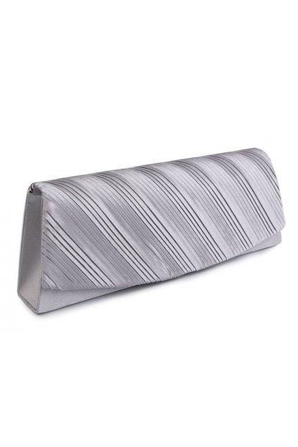 Saténové psaníčko UNI | stříbrná