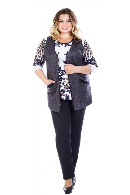 PETKA - úpletová vesta 75 - 80 cm