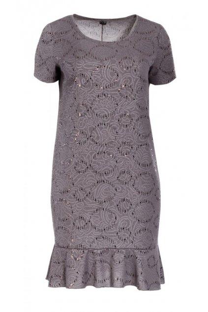 NATALI společenské pouzdrové šaty 95 cm - 100 cm, kr. rukáv