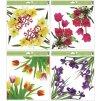 Okenní fólie rohová květiny s glitry, 30 x 33,5 cm  L993