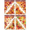 Okenní fólie rohová 38x30 cm, podzimní listí L963