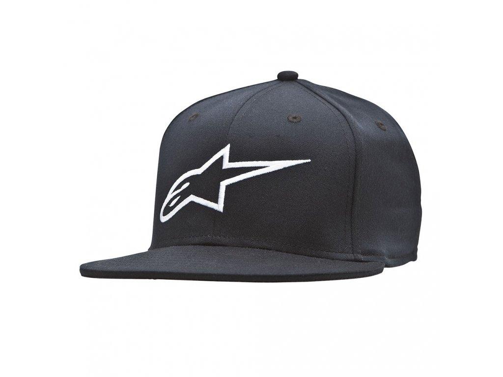 Pánská černá kšiltovka AGELESS FLAT HAT Alpinestars 1035-81015 10-M