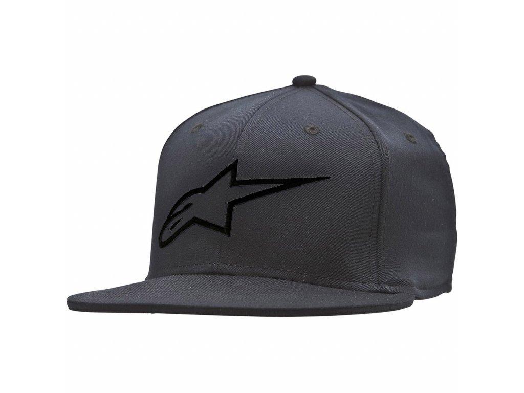 Pánská černo-černá kšiltovka AGELESS FLAT HAT Alpinestars 1035-81015 1010-M
