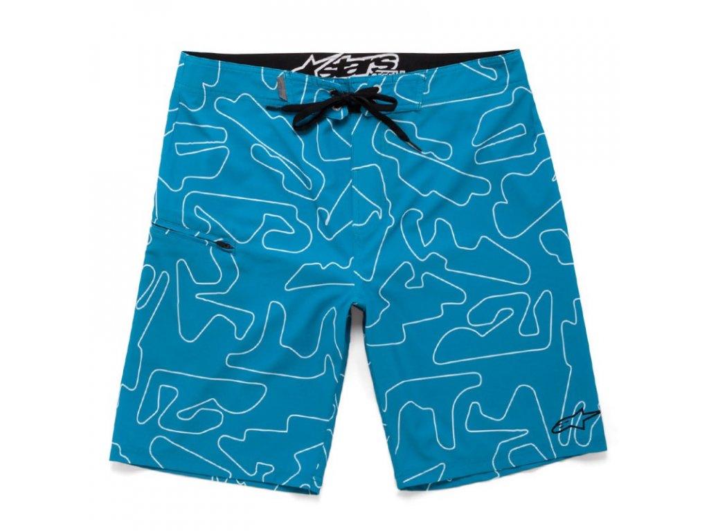 Pánské modré krátké plavky TRACKS BSHORT Alpinestars 1036-24004 74 - 32