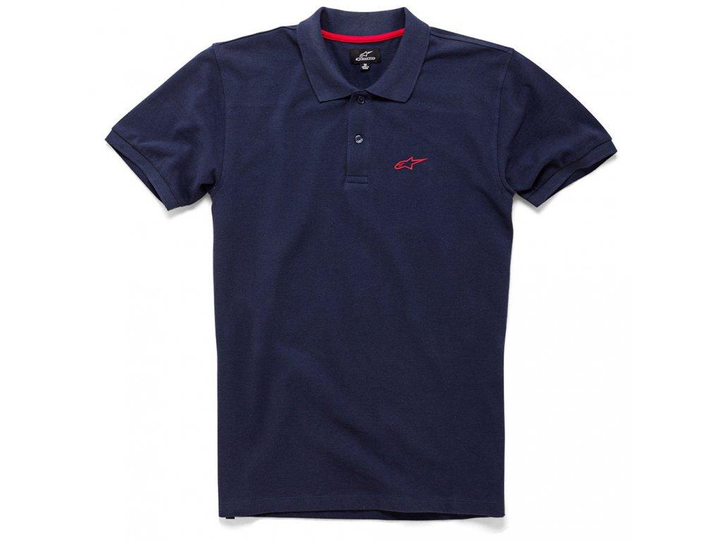 Pánské modré polo EFFORTLESS Alpinestars krátké 1036-42008 70