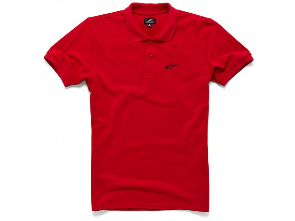 Pánské červené polo EFFORTLESS Alpinestars krátké 1036-42008 30