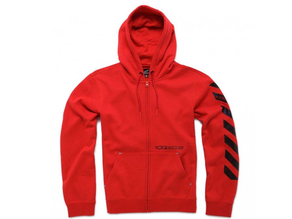 Pánská červená mikina DEBRIEF FLEECE Alpinestars 1036-53009 30
