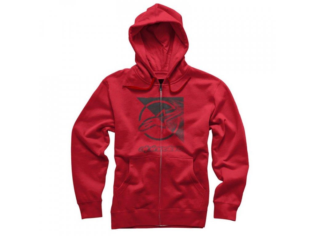 Pánská červená mikina RIFT ZIP HOODIE Alpinestars 1036-53011 308
