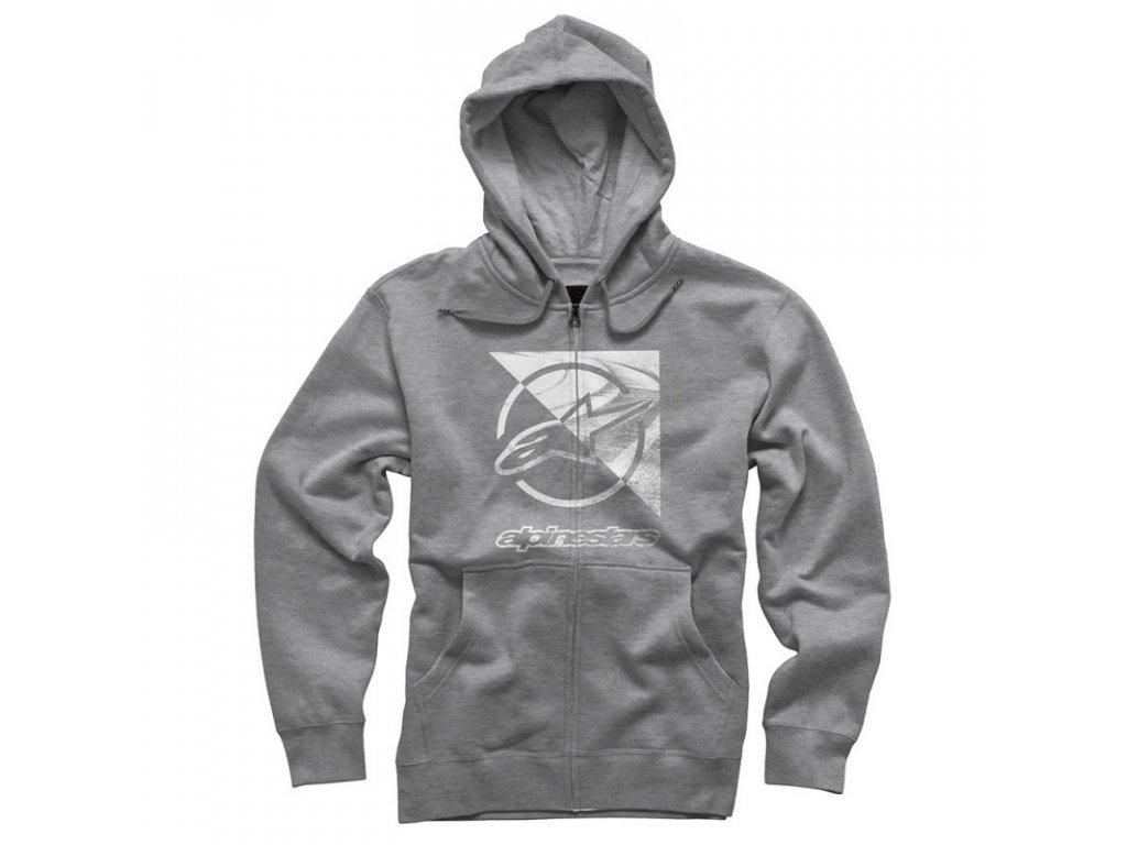 Pánská šedá mikina RIFT ZIP HOODIE Alpinestars 1036-53011 182