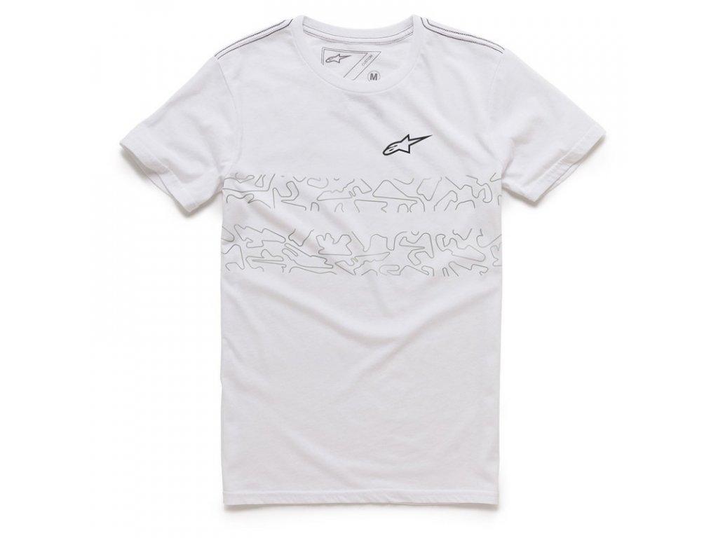 Pánské bílé tričko LUNAR TEE Alpinestars krátké 1036-73001 20