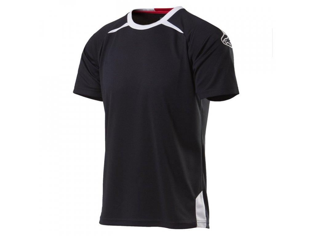 Pánské černé prémiové tričko TOP FLIGHT SS Alpinestars krátké 1035-42007 10