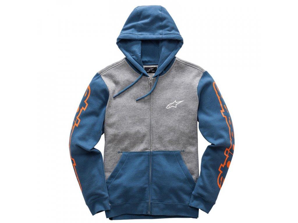 Pánská modrá mikina MACHINE FLEECE Alpinestars 1017-53005 1173