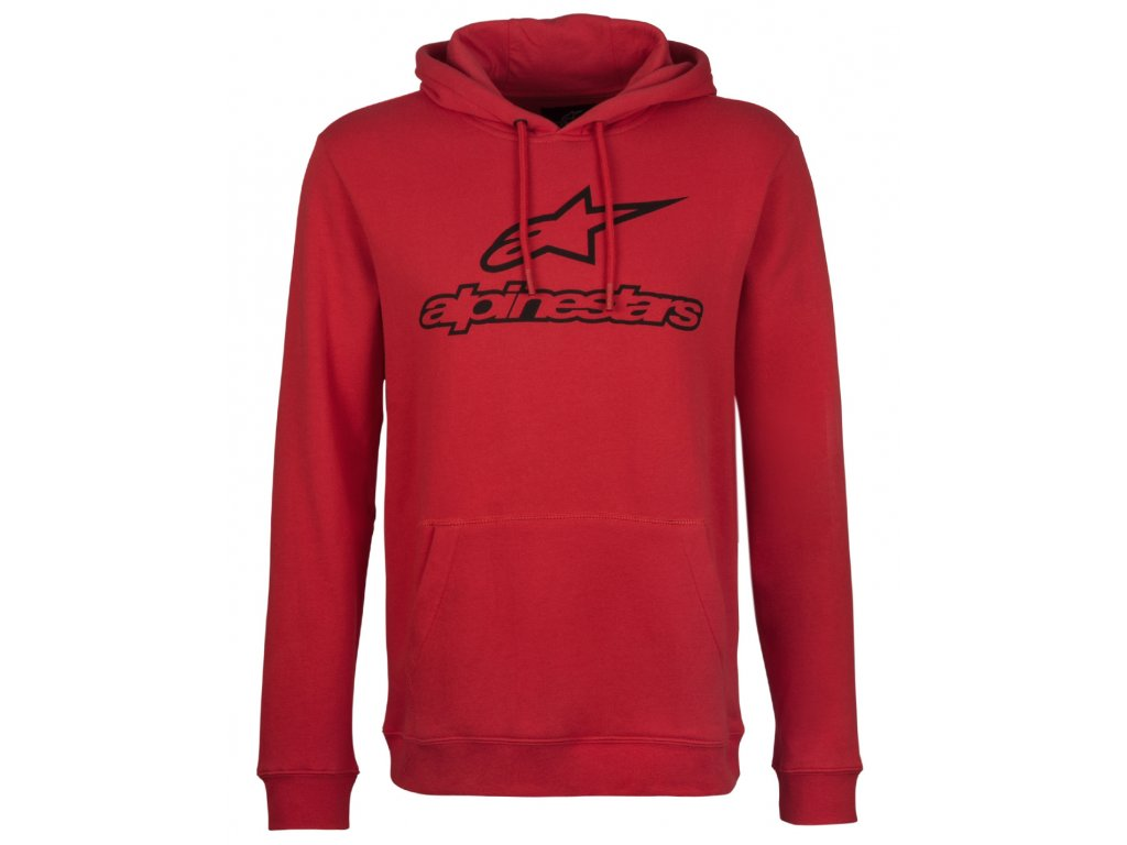 Pánská červená mikina ALWAYS FLEECE Alpinestars 1017-52006 30