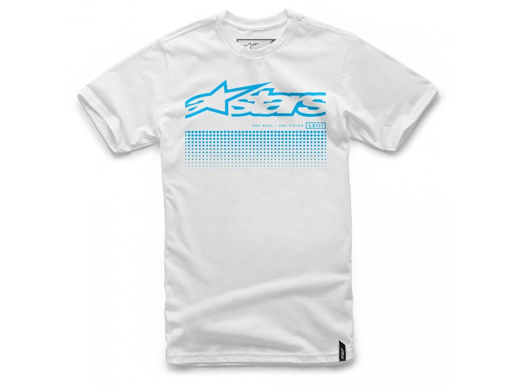 Pánské bílé tričko UNIFLOW TEE Alpinestars krátké 1017-72005 20