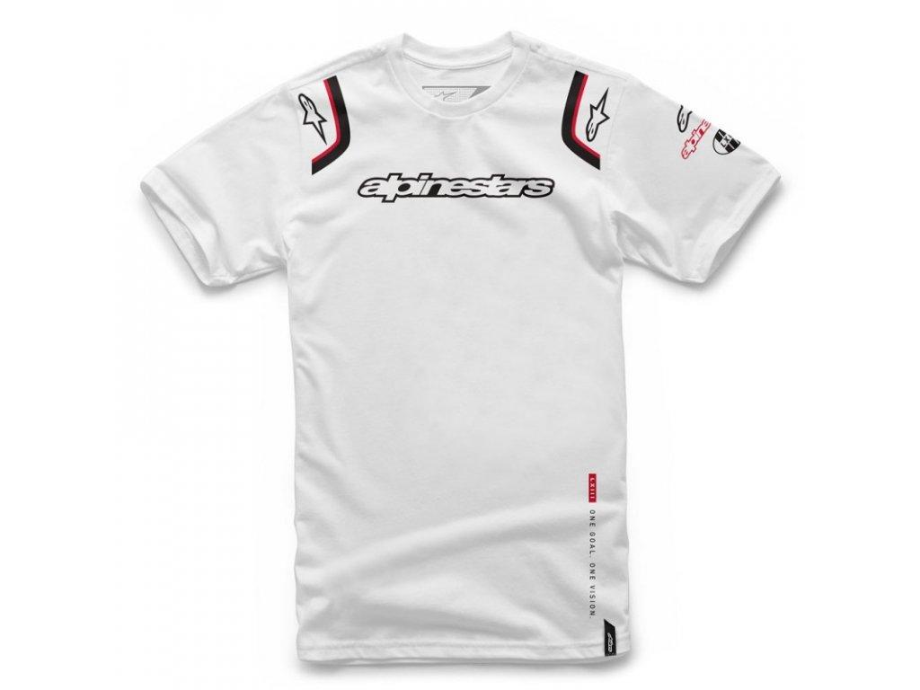 Pánské bílé tričko ALLY TEE Alpinestars krátké 1066-72001 20