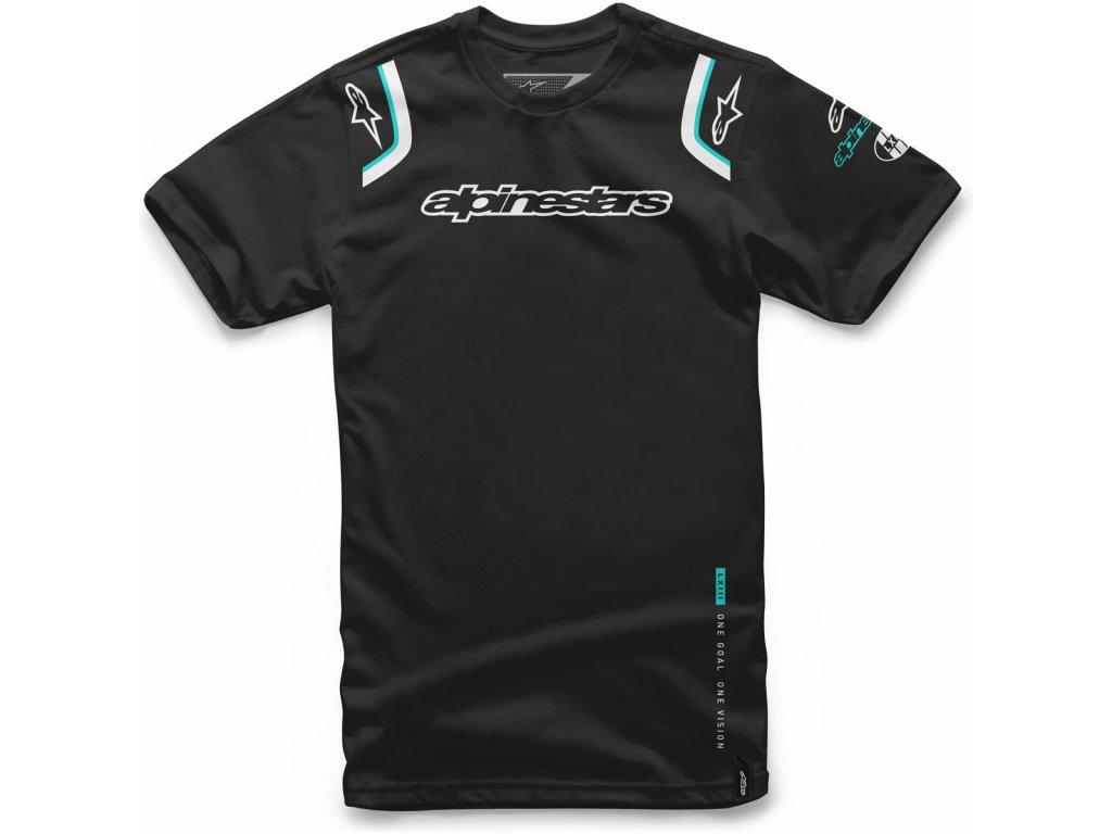 Pánské černé tričko ALLY TEE Alpinestars krátké 1066-72001 10