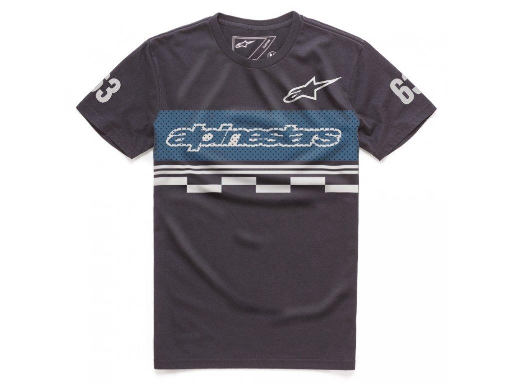 Pánské černé tričko FINISH TEE Alpinestars krátké 1017-73002 10
