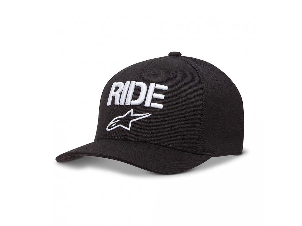 Pánská černá kšiltovka RIDE CURVE HAT Alpinestars 1017-81008 1020-M