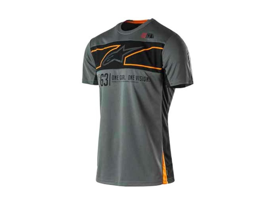 Pánské prémiové šedé tričko RECOVERY SS TEE Alpinestars krátké 1035-42006 18