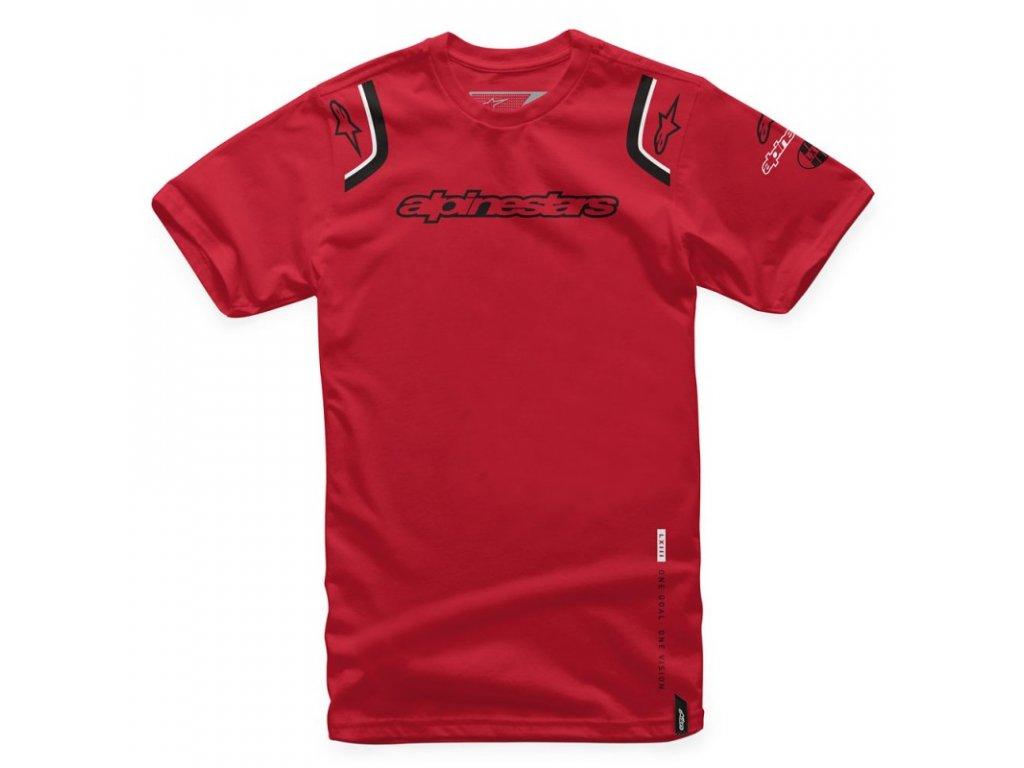 Pánské červené tričko ALLY TEE Alpinestars krátké 1066-72001 30