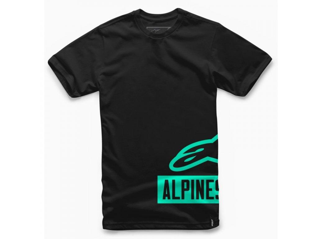 Pánské černo-zelené tričko TANK TEE Alpinestars krátké 1017-72000 1060