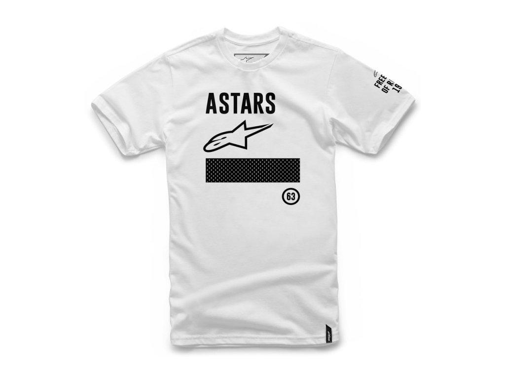 Pánské bílé tričko SET TEE Alpinestars krátké 1027-72006 20