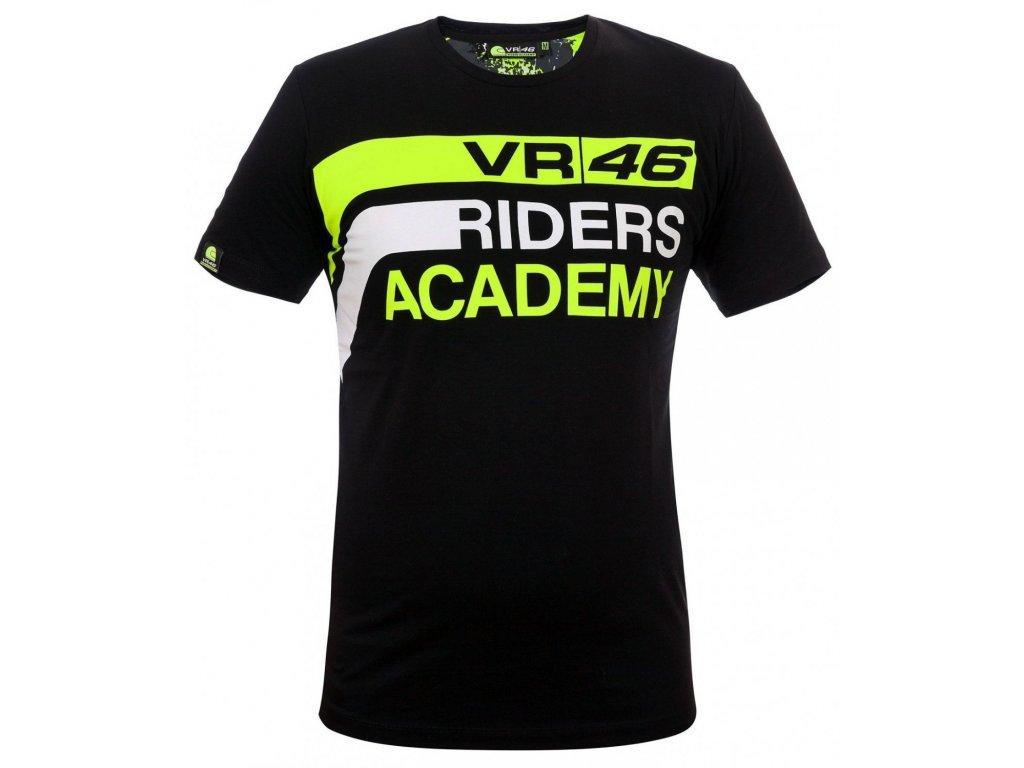Pánské černé tričko Riders Academy Valentino Rossi VR46 RAMTS291504NF