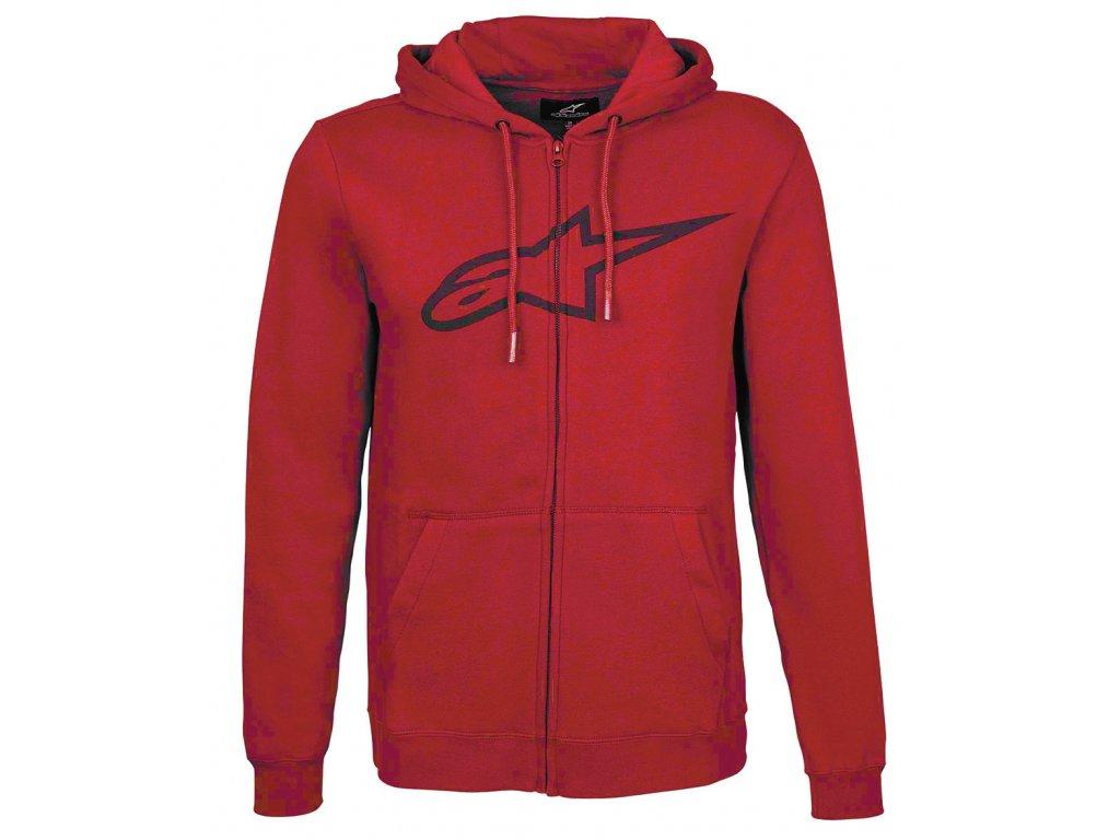 Pánská červená mikina AGELESS FLEECE Alpinestars 1017-53007 30