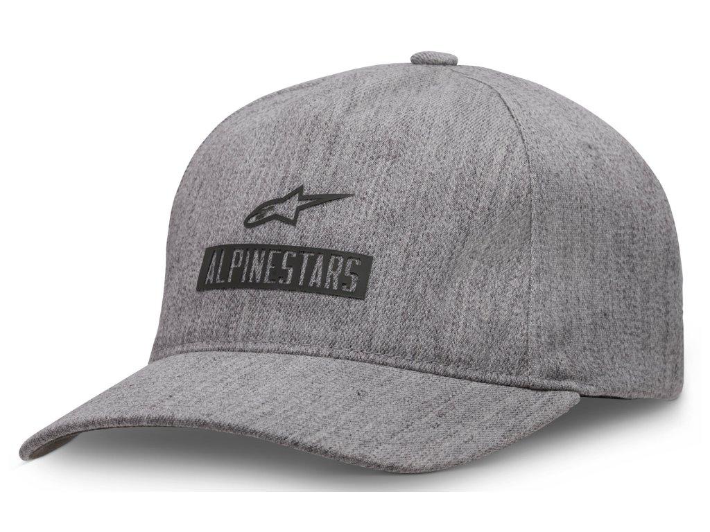 Pánská šedá kšiltovka WORKS HAT Alpinestars 1037-81022 1026-XL