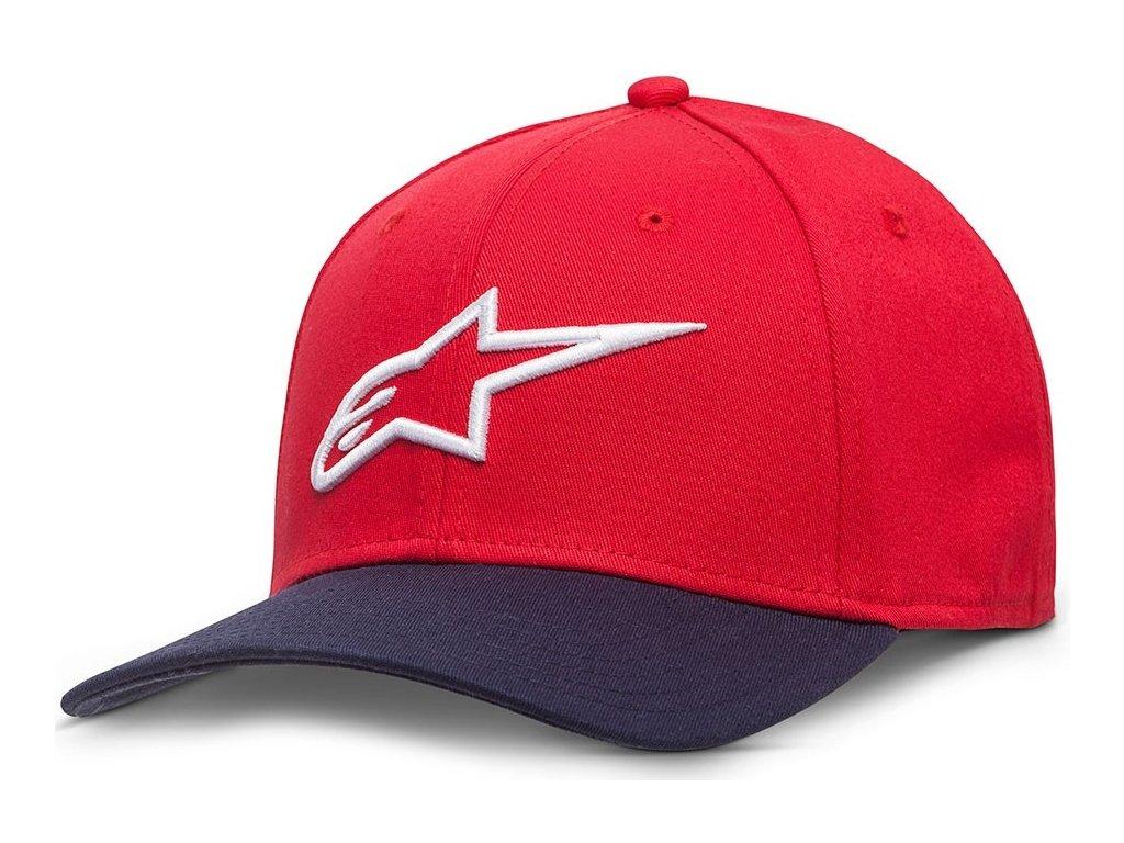 Pánská červená kšiltovka AGELESS CURVE HAT Alpinestars 1017-81010 3070-M