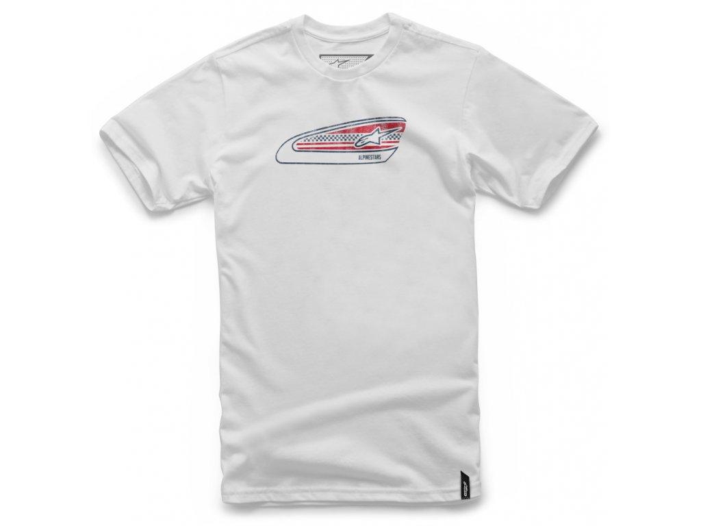 Pánské bílé tričko TANKED TEE Alpinestars krátké 1037-72072 20