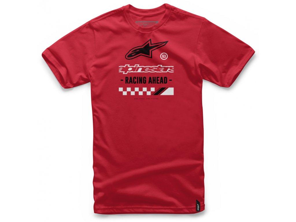 Pánské červené tričko AHEAD TEE Alpinestars krátké 1037-72024 30